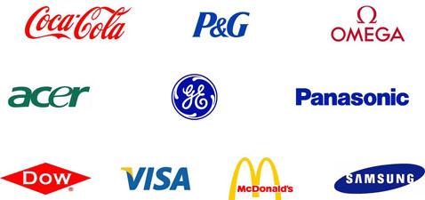 Olympic Sponsors Include Procter & Gamble (P&G), Coca Cola, McDonalds, Omega, GE, Panasonic, Acer, Dow, Visa, Samsung